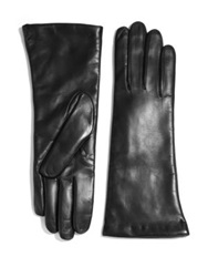 Saks Fifth Avenue Leather Gloves Black Brown