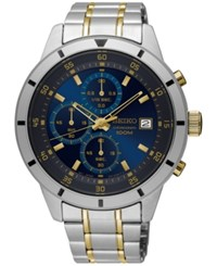 Seiko Men's Chronograph Special Value Two Tone Stainless Steel Bracelet Watch 43Mm Sks581