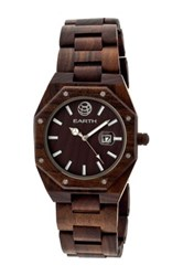 Earth Wood Men's Medullary Ray Watch Brown