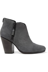 Rag And Bone Margot Nubuck Ankle Boots Charcoal