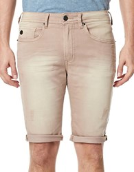Buffalo David Bitton Parker X Distressed Fold Over Cuff Shorts Cork