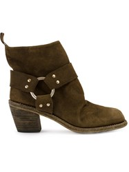 Guidi Chunky Heel Boots Women Horse Leather 39 Brown