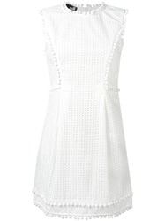 Love Moschino Perforated Detailing Dress White