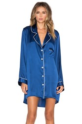 Kisskill Long Sleeve Silk Night Shirt Blue