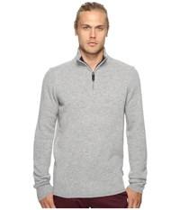 Ben Sherman Long Sleeve Lambswool Half Zip Knit Silver Chali Marl Men's Long Sleeve Button Up Gray