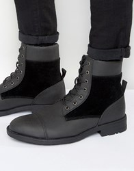 D Struct Borg Lined Boots Black