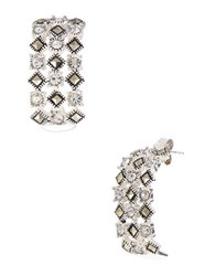Lord And Taylor Sterling Silver Marcasite Glitz Drop Earrings