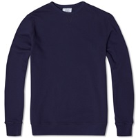 Officine Generale Japanese Terry Crew Neck Sweat Navy