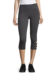 Andrew Marc New York Solid Cutout Leggings Charcoal