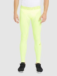 Nike Yellow Hyper Compression Leggings