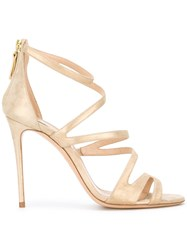 Casadei Strapped Open Toe Sandals Women Leather Kid Leather 41.5 Nude Neutrals
