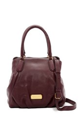 Marc By Marc Jacobs New Q Fran Leather Satchel Red