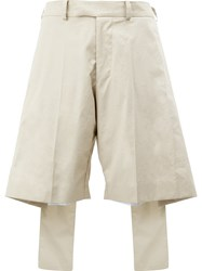 Yang Li Oversize Layer Effect Shorts Nude Neutrals