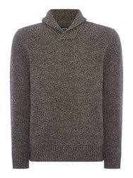 Howick Men's Brunswick Shawl Neck Jumper Charcoal