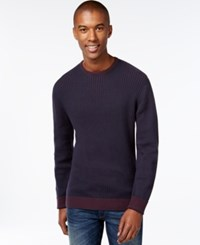 Vince Camuto Core Marled Sweater Navy Berry Mix