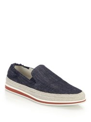 Prada Suede Espadrille Slip On Sneakers