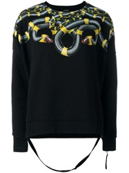 Marcelo Burlon County Of Milan Snake Printed Sweatshirt Black