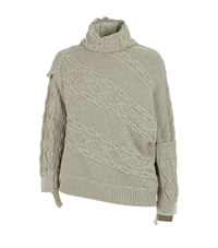 Burberry Runway Deconstructed Cable Knit Jumper Male Beige