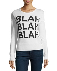 Christopher Fischer Cashmere 'Blah' Crewneck Sweater Ice White Black