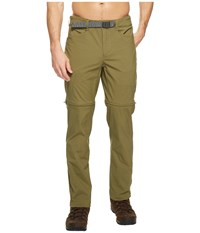 The North Face Straight Paramount 3.0 Convertible Pants Burnt Olive Green Men's Casual Pants