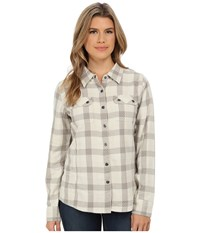 Prana Bridget Lined Shirt Stone Women's Long Sleeve Button Up White