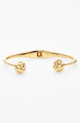 Kate Spade 'Dainty Sparklers' Knot Hinged Cuff Gold