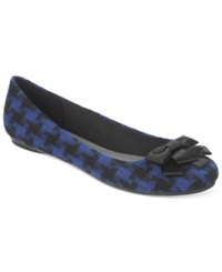 Fergalicious Adele Bow Flats Women's Shoes Blue Houndstooth