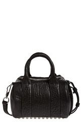 Alexander Wang 'Mini Rockie Nickel' Leather Crossbody Satchel Black