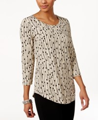 Jm Collection Printed Scoop Neck Top Only At Macy's St Horizon Move