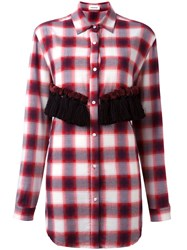 Au Jour Le Jour Checked Tassel Detail Shirt Red