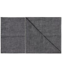 The Hill Side Selvedge Chambray Scarf Black