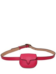 Polo Ralph Lauren Leather Belt Bag Fuchsia