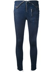 Rta High Waisted Skinny Jeans Blue