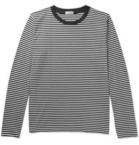 Margaret Howell Striped Cotton Jersey T Shirt Black
