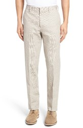 Bonobos Men's Flat Front Houndstooth Linen And Cotton Trousers
