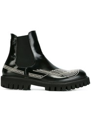 Les Hommes Studded Chelsea Boots Black