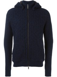 Etro Knitted Hoodie Blue