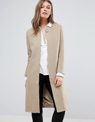 Goldie Clean Cut Long Coat Beige