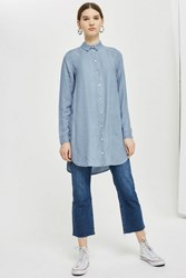 Selected Long Sleeve Shirt By Femme Blue