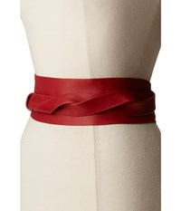 Ada Collection Obi Classic Wrap Upsdell Red Women's Belts