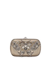 Judith Leiber Soft Sided Rectangle Clutch With Butterfly Yellow Metallic