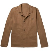 Anderson And Sheppard Linen Shirt Jacket Brown