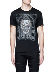 Alexander Mcqueen Skull Cathedral Print Organic Cotton T Shirt Black
