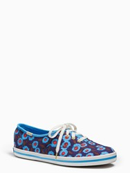 Kate Spade Keds For New York Kick Sneakers Peacock Blue