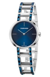 Calvin Klein Cheers Swarovski Bracelet Watch 32Mm Silver Montana Blue