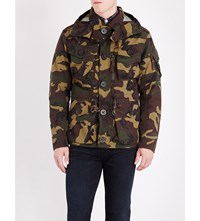 Polo Ralph Lauren Camouflage Print Hooded Shell Utility Jacket Camo Print