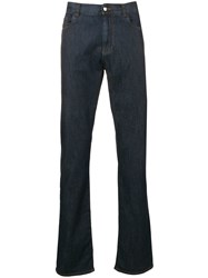 Canali Straight Leg Jeans Blue