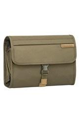 Men's Briggs And Riley 'Baseline Deluxe' Hanging Toiletry Kit Olive