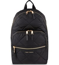 Tiba And Marl Elwood Quilted Backpack Black Quilt