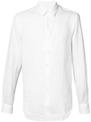 Tomorrowland Button Up Shirt Men Linen Flax M White